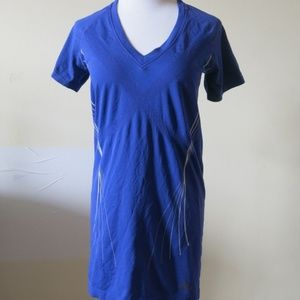 ADIDAS V Neck Athletic Workout Stretchy Top Large